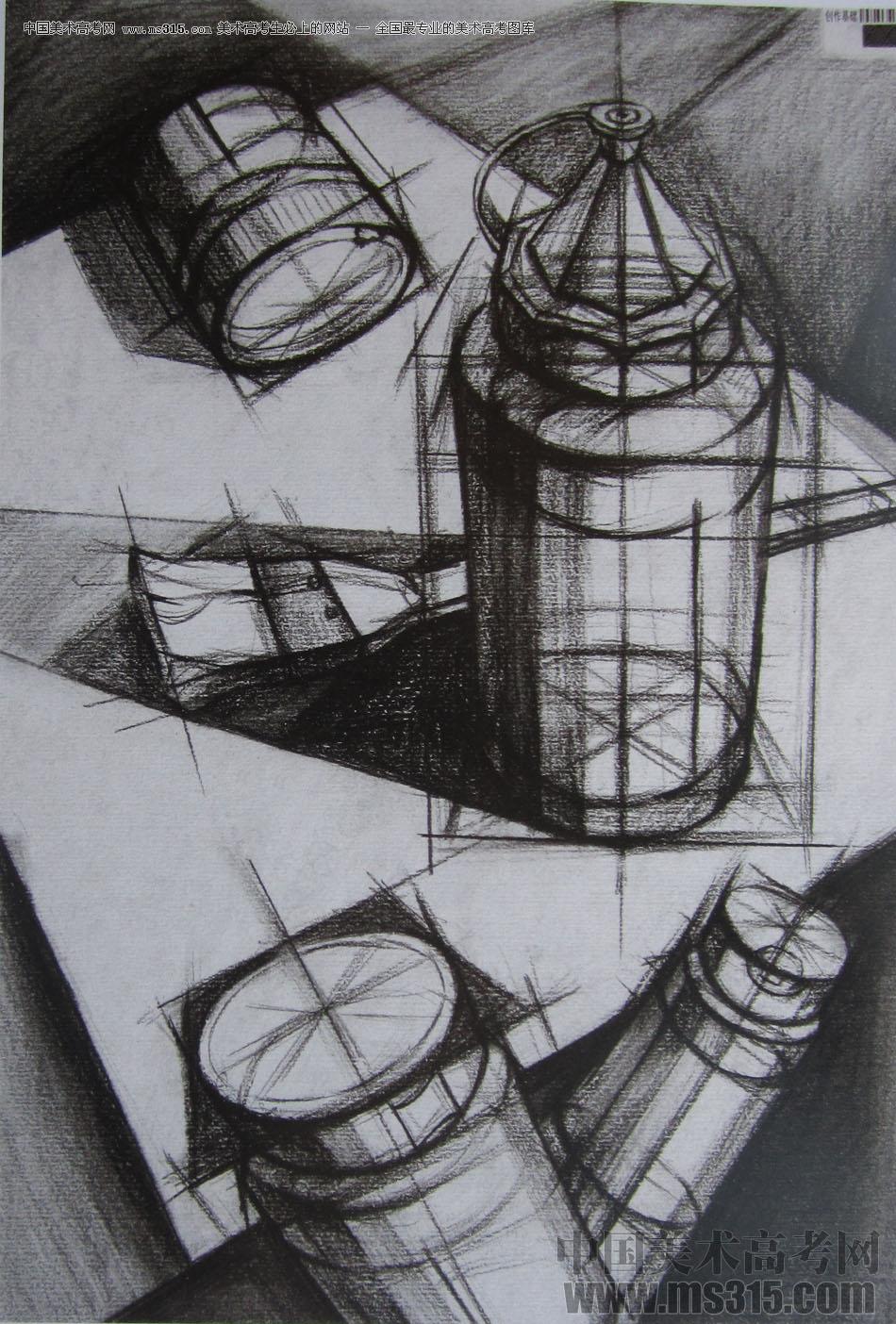 2015年四川美术学院设计素描高分卷45图片