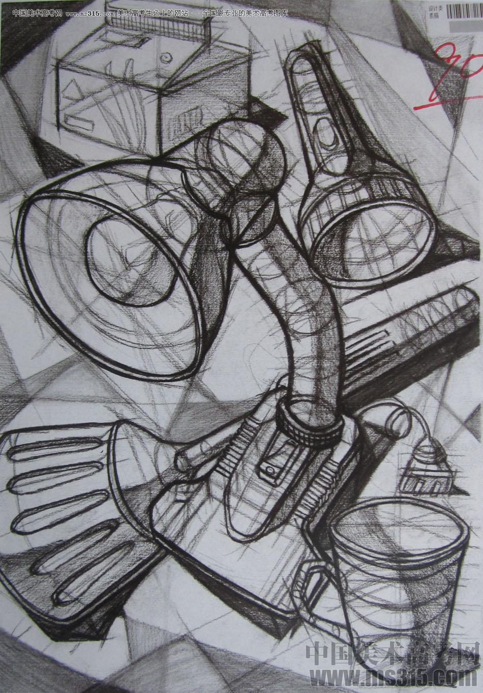 2015年四川美术学院设计素描高分卷46