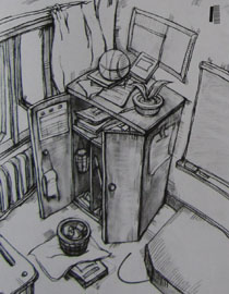 2009年江南大�W素描��秀�卷4