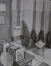 2009年江南大�W素描��秀�卷5