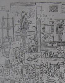 2009年江南大�W素描��秀�卷8