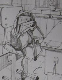 2009年江南大�W素描��秀�卷9