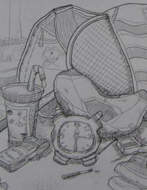 2009年江南大�W素描��秀�卷10