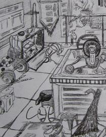 2009年江南大�W素描��秀�卷12