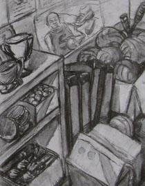 2009年江南大�W素描��秀�卷13