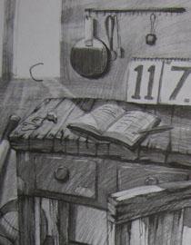 2009年江南大�W素描��秀�卷17