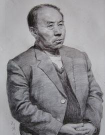中央美�g�W院�钤��博元作品1(素描半身像)