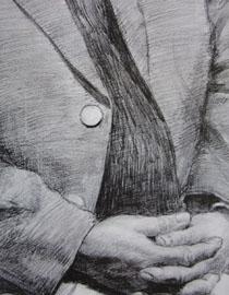 中央美�g�W院�钤��博元作品3(局部-手和袖口)