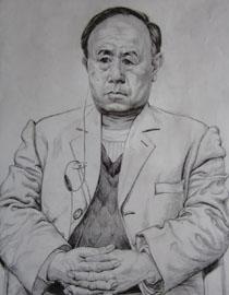 中央美�g�W院�钤��博元作品4(素描半身像)