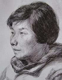 中央美�g�W院�钤��博元作品13(局部-�^)