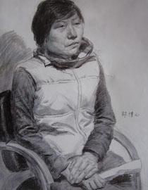 中央美�g�W院�钤��博元作品20(素描半身像)