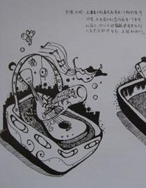 2012年北京服装学院创意速写优秀卷45图片