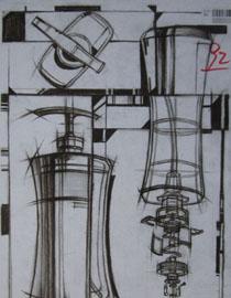 2014年四川美术学院设计类素描优秀试卷4