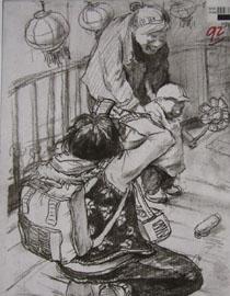 2014年四川美术学院速写优秀试卷15