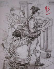 2016年四川美术学院造型速写高分试卷8
