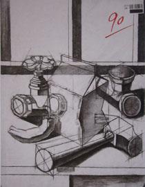 2016年四川美术学院设计素描高分试卷38