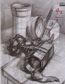 2016年四川美术学院设计素描高分试卷48