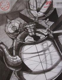 2016年四川美术学院设计素描高分试卷52