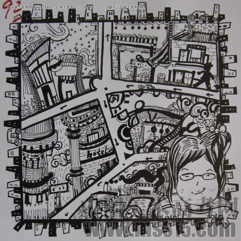 2009年四川美术学院设计基础优秀试卷35图片
