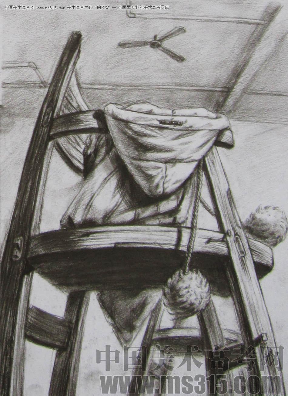 2011年清华大学美术学院素描高分试卷26(设计)