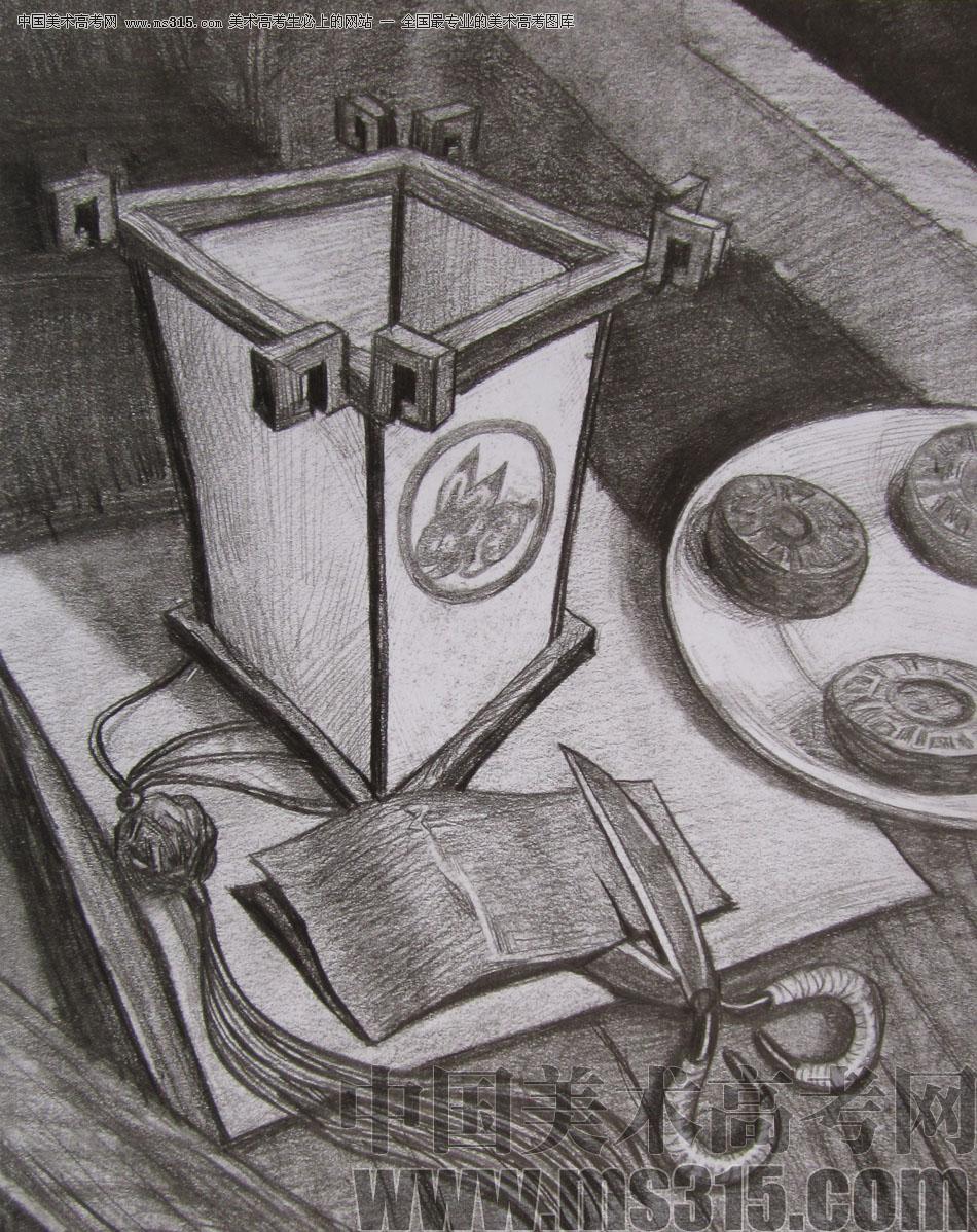 2012年清华大学美术学院素描高分试卷6(设计)