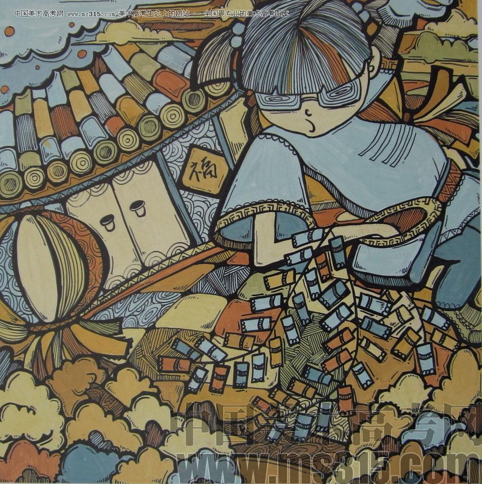 2012年鲁迅美术学院设计基础优秀试卷25图片