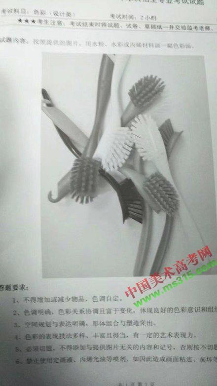 2019年四川美术学院设计类专业考题(校本部考点)